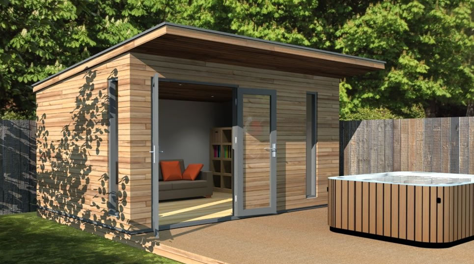4 x 3 canopy garden room or garden office space for Timber garden rooms