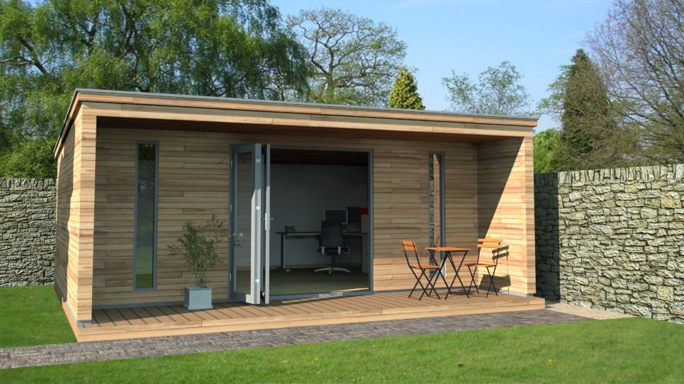 Garden rooms contemporary garden rooms by harrison james for Garden house office