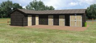 Suffolk - with doors (3 Stables)
