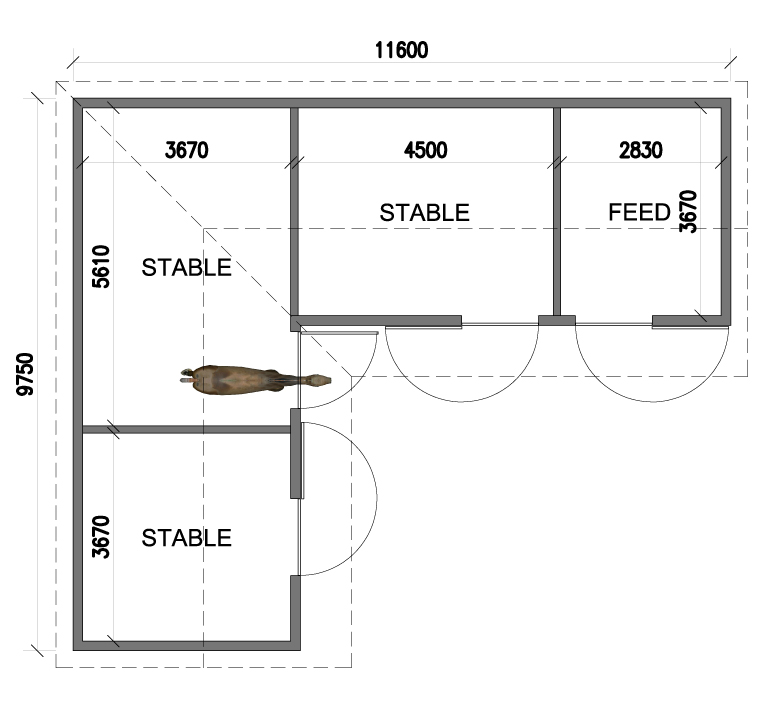 Shire 3 stables for Stables plans